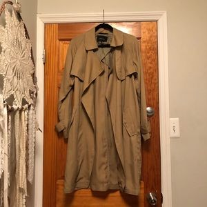 Open Front Trench Coat